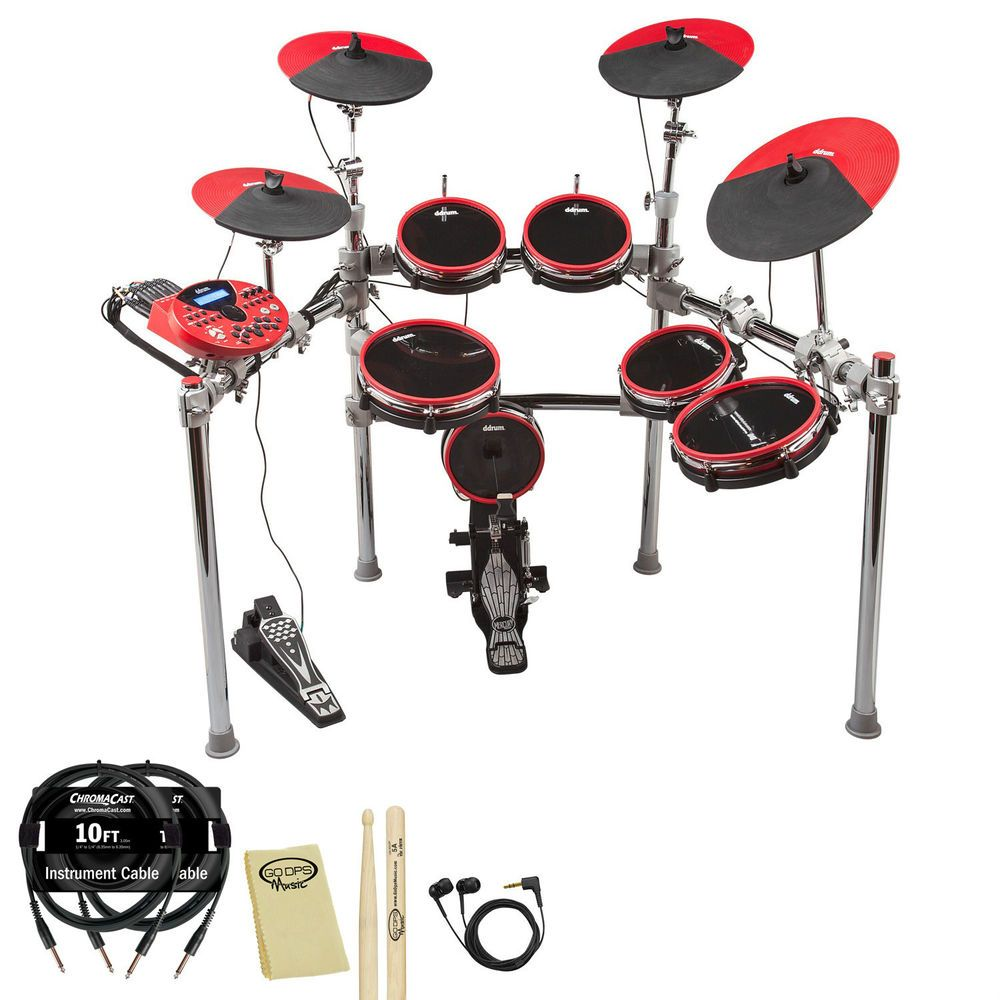 ddrum DD5X 9pc Electronic Drum Set Complete Package Professional