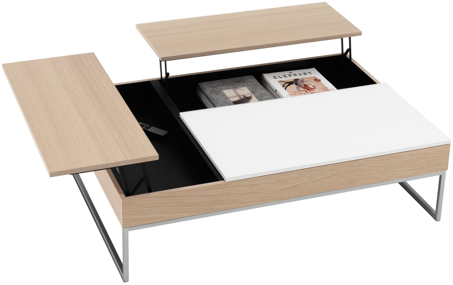 Chiva Konferencni Stolek Dubova Dyha A Bile Sklo 2 Coffee Table Contemporary Coffee Table Modern Coffee Tables [ 944 x 1500 Pixel ]