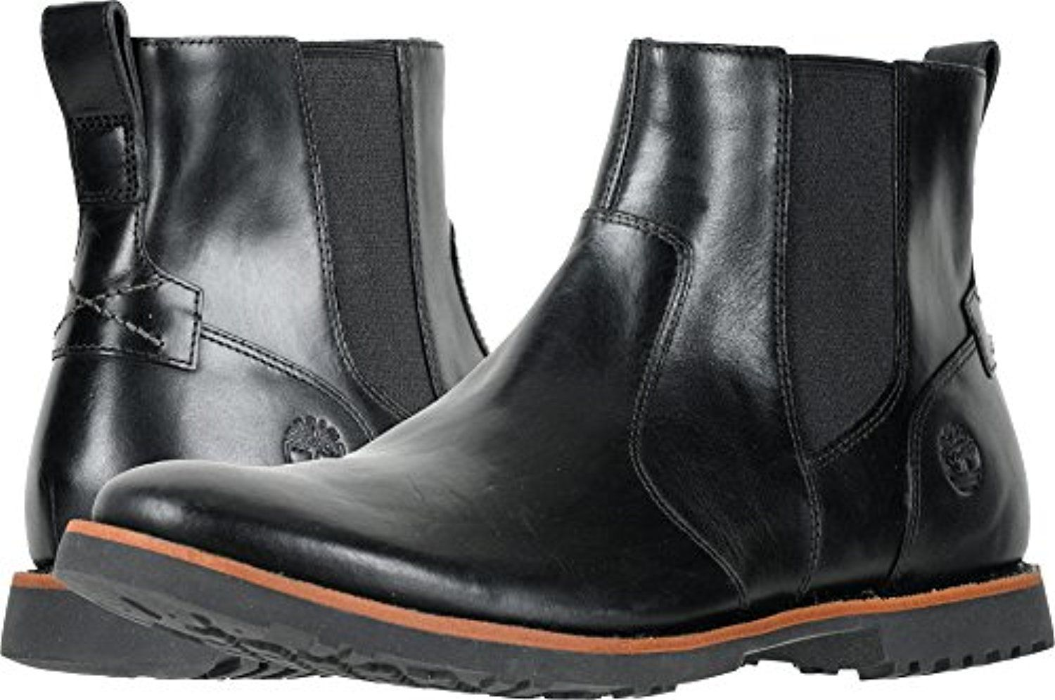 0e60772a7234ef Timberland Mens Kendrick Chelsea Boots Black Old Harness 9.5 M ...