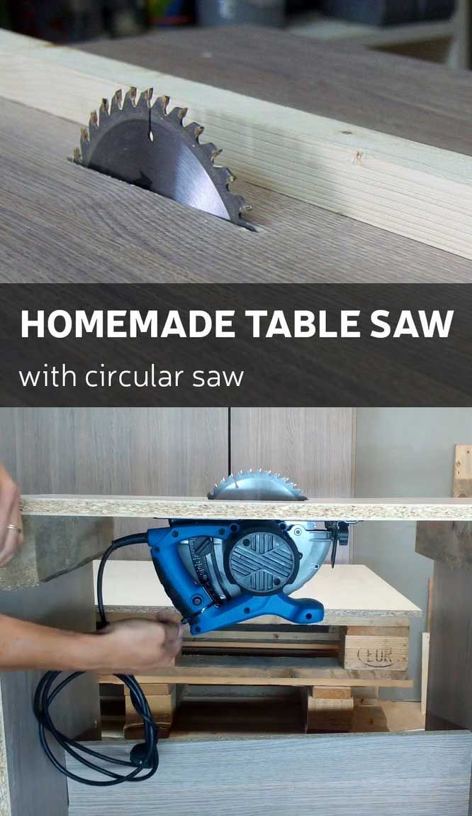 How to make a homemade table saw with circular saw pinterest homemade table saw by using regular circular saw greentooth Images