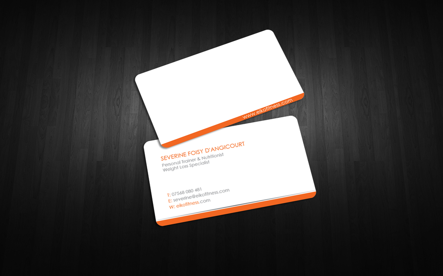 freelance Create winner business card for a personal trainer by An ...