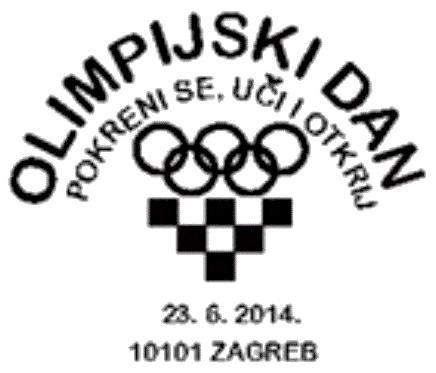 Sonderstempel Kroatien Olympic Day