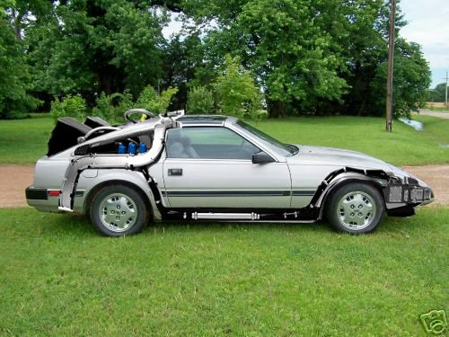 Modified Nissan 300 ZX to look like a DeLorean 'Back To The Future' Time Machine