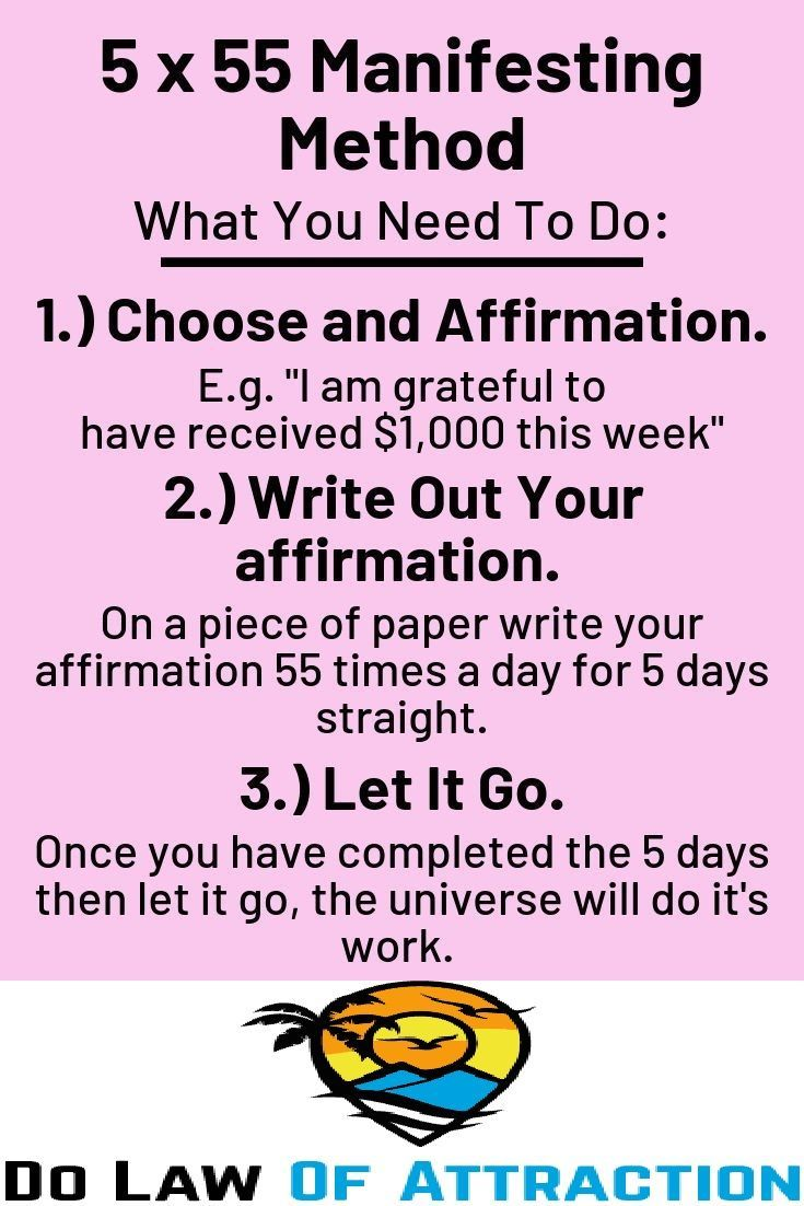 how to manifest anything by writing
