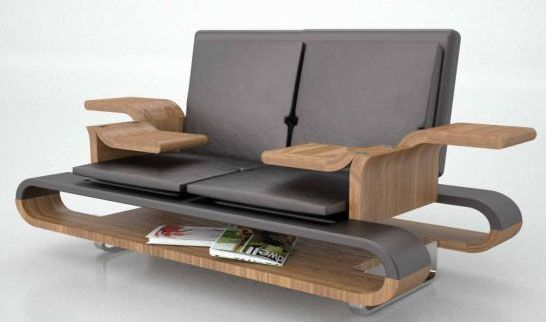 Transforming Table Turns Into A Luxury Leather Couch | Designs .