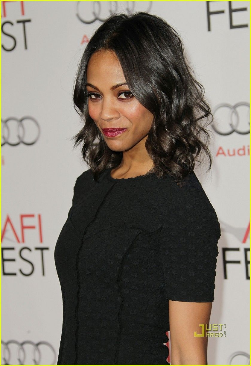 Zoe Saldana Cute Hair Waves Zoe Saldana Short Hair Styles Hair Styles