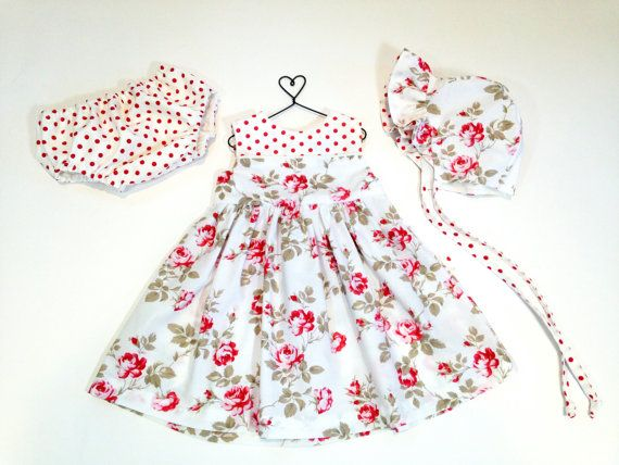 12 Month Baby Dress Spring Outfit Infant Set Baby Bonnet Baby Outfit Easter Dress Pink Floral Girls Easter Dresses Baby Girl Easter Dress Girls Dresses Summer