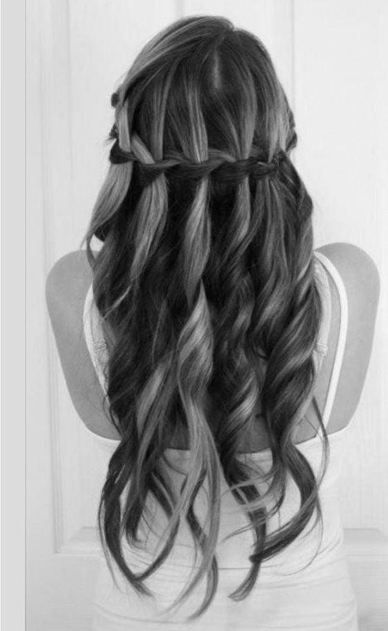 waterfalllll   haarfrisuren, frisuren, frisur ideen