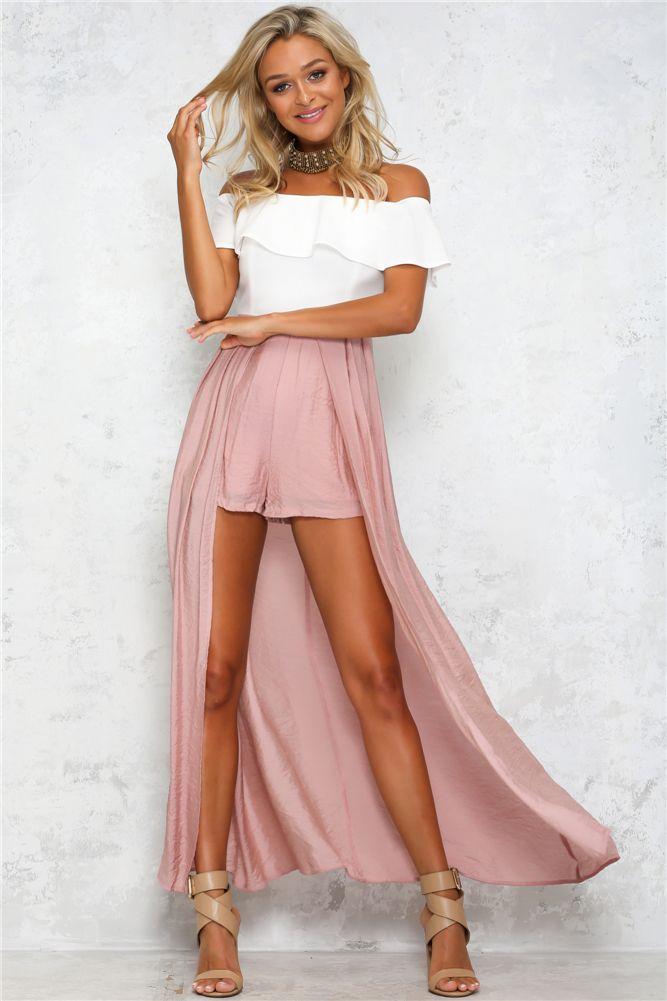 bbaed2b2cdbf8 Siren Song Maxi Romper Blush | Fashion | Romper dress, Maxi romper ...