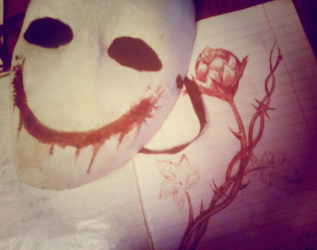 Drawing and mask of Bloody painter. by Meka2201.deviantart.com on @DeviantArt