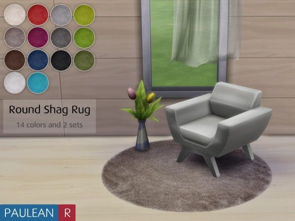 Paluean r sims round shag rug sims 4 downloads for Mobilia zoo