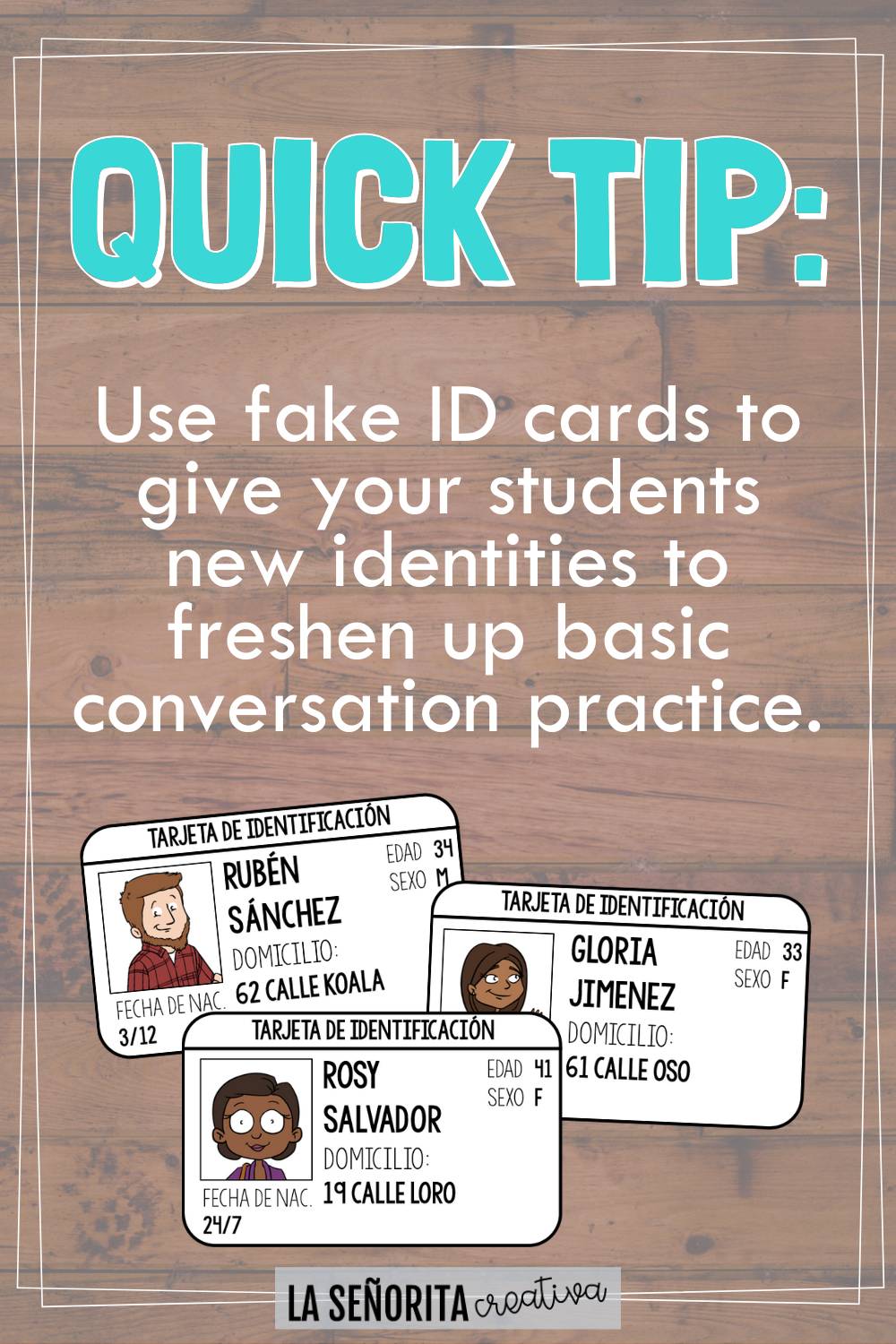 Fake Id Cards For Greeting Practice In Spanish In 2020 Introduction Activities Spanish Class Spanish Lessons