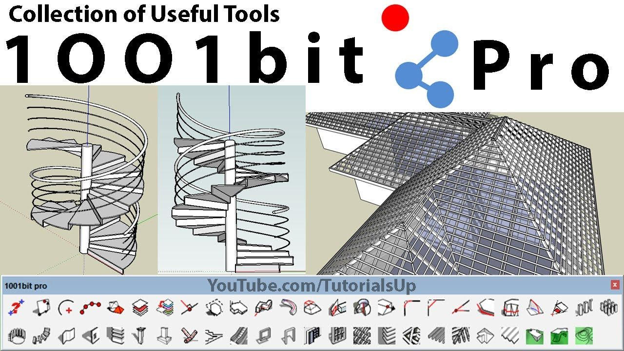 How To Use 1001bit Plugin In Sketchup Architectural Elements Hip Roof Plugins