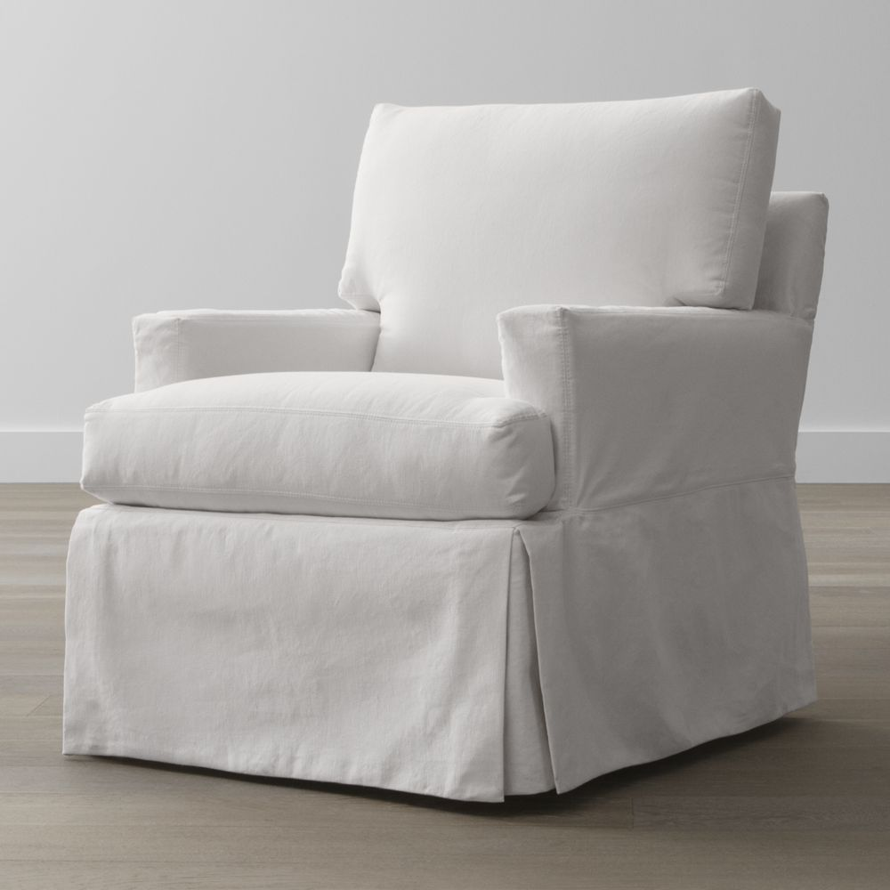 Slipcover Only For Hathaway Swivel Glider Crate And Barrel