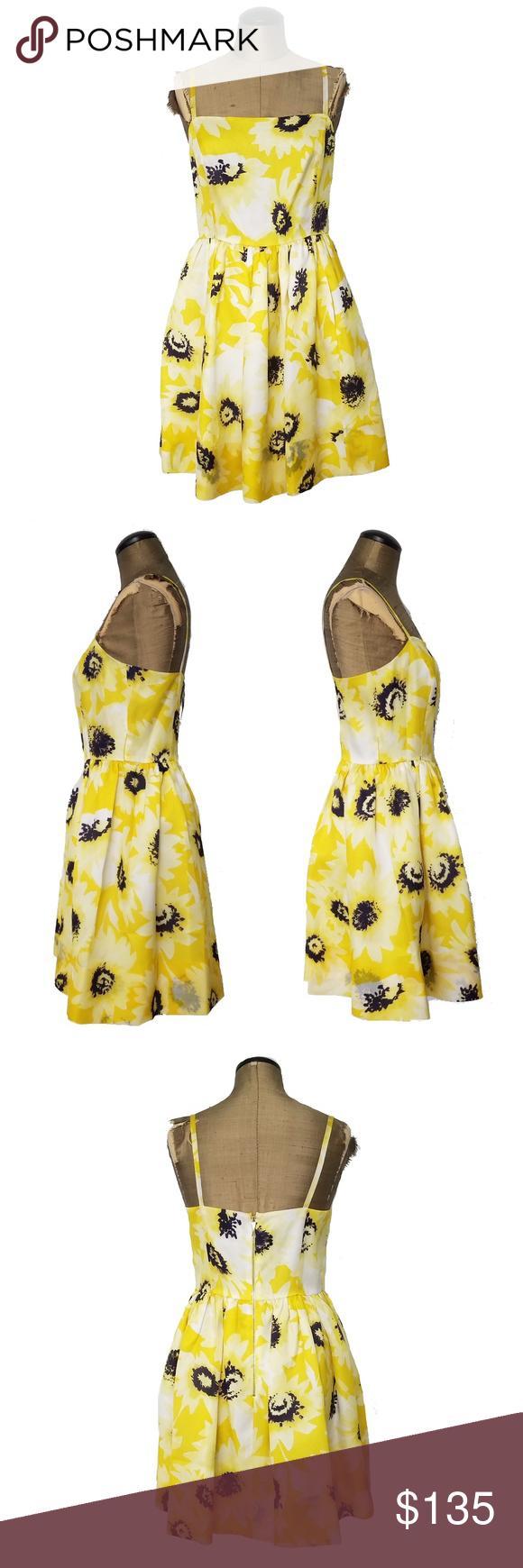Kate Spade Sunflower Yellow Black Mini Dress Sz 4 Kate Spade Dress Sz 4 Sunflower Pattern New With Tags Missing B Mini Black Dress Fashion Clothes Design [ 1740 x 580 Pixel ]