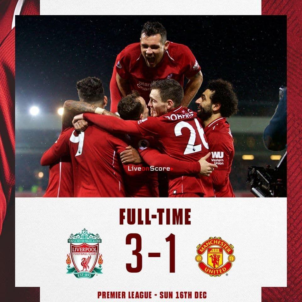 Liverpool 3 1 Manchester United Full Highlight Video Premier League 2018 2019 Allsportsnews Football Hi Premier League Liverpool Liverpool Football Club