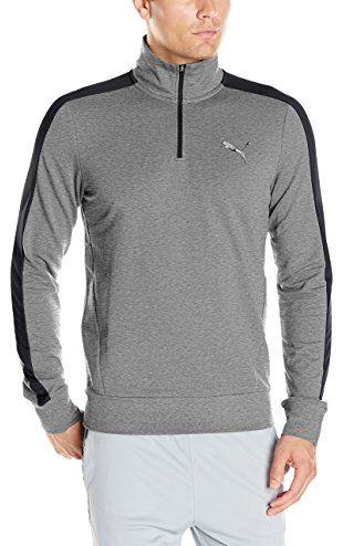 PUMA Men's Stretch Lite Half Zip Top, Medium Gray Heather, Large ❤ Puma  Men's