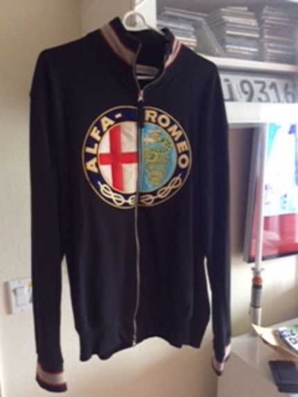 Alfa Romeo Halogen Track jacket Euro XXL coat Large L lg ferrari nwot #nonamed #FleeceJacket