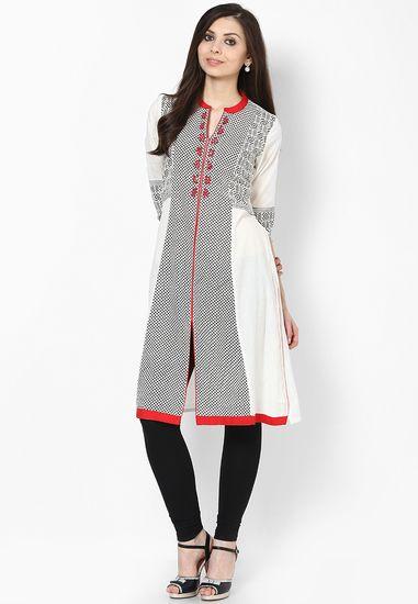 95a43deb388 Cotton White Kurta - Rangmanch By Pantaloons Kurtas   kurtis for women