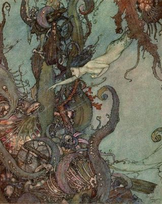 """Illustration by Edmund Dulac from """"Stories from Hans Andersen"""""""