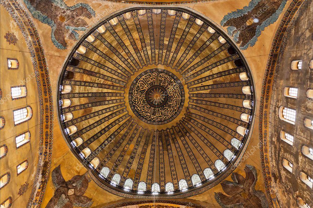 Hagia Sofia ceiling - Stock Photo , #Affiliate, #Sofia, #Hagia, #ceiling, #Photo #AD in 2020 | Hagia sophia
