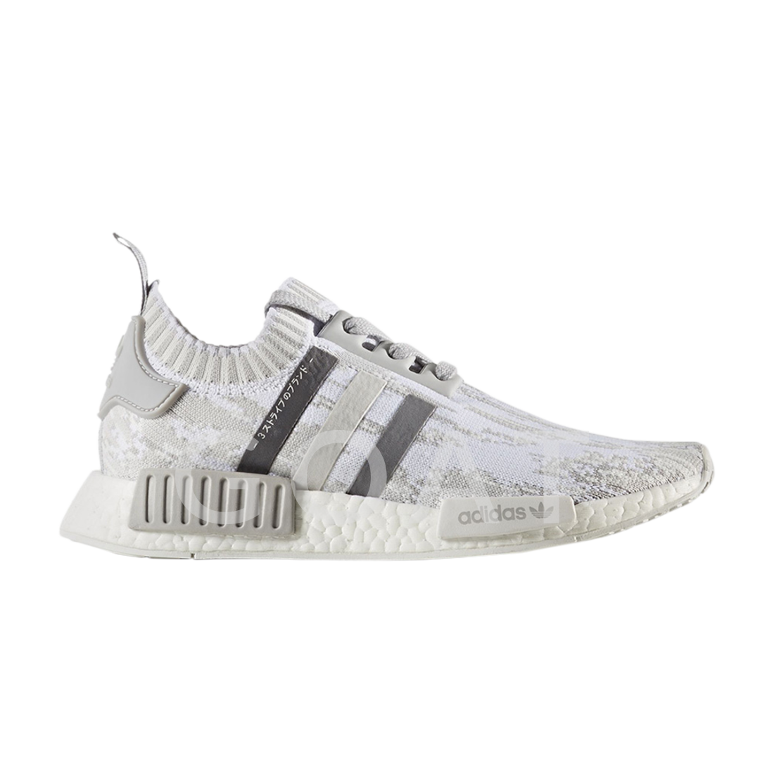 Womens Adidas NMD_R1 Primknit - BY9865 - Grey Trainers
