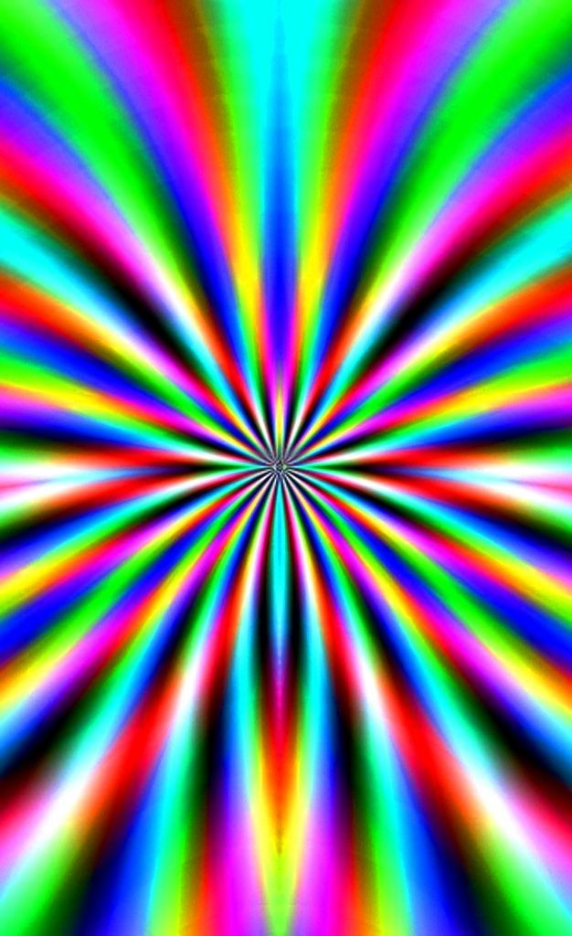 Psychedelic Rainbow Color Fractal Fractals Cool Optical