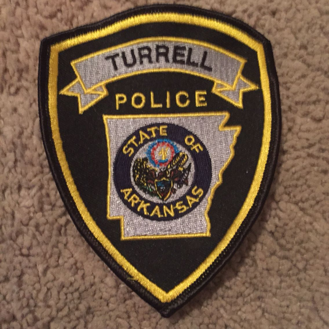 Turrell PD Police patches, Police, Police badge