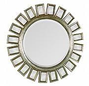 Miroir Soleil Sun Mirror Fini Finish Antique Silver Leaf 34 Dia