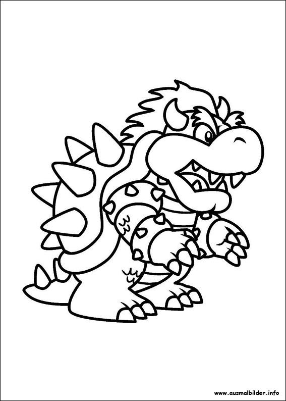 Ausmalbilder Super Mario Bowser   Super mario bros ...