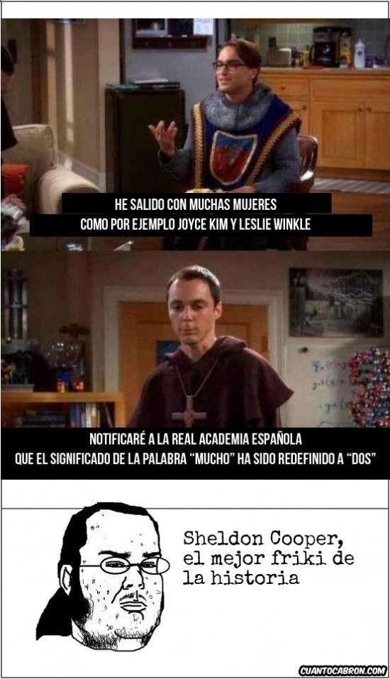 ★★★★★ Memes graciosos para adultos: Sheldon es demasiado genio I➨… ☛ www.diverint.com/...