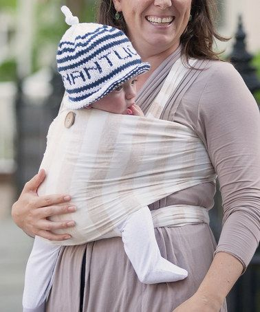 Another great find on #zulily! Oatmeal Stripe Supima-Blend Wrap Baby Carrier #zulilyfinds
