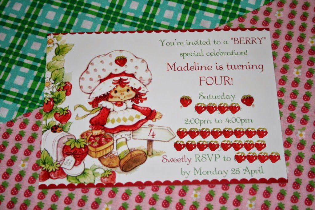 Vintage Strawberry Shortcake Party Strawberry shortcake