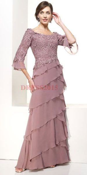 Mother of the Bride Dress. What do you think mom, it has the ruffle ...