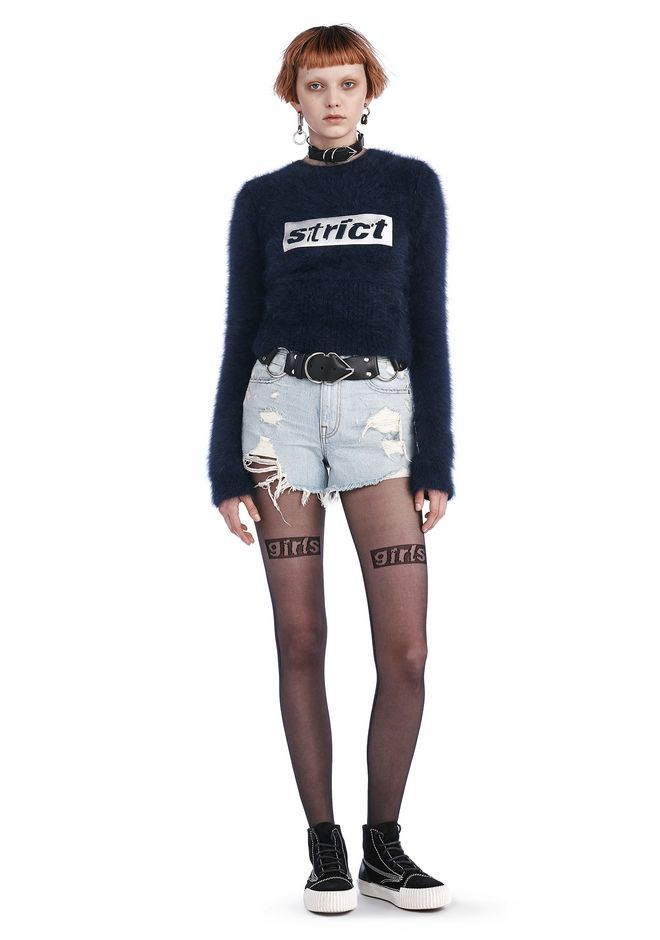 adcc2b007f7 ALEXANDER WANG Bite Cut-Off Destroyed Denim Shorts.  alexanderwang  cloth