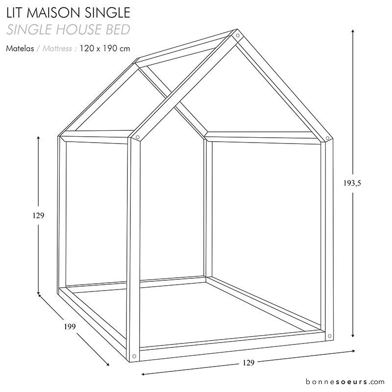 Best Bonnesoeurs Design Lit Maison House Bed Dimensions Taille 400 x 300