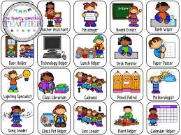 Image result for free printable preschool job chart pictures also rh pinterest