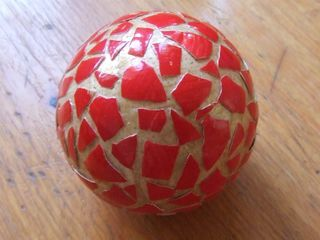 Red Decorative Balls Decorative Ball Made With Eggshells Paint And Modge Podge
