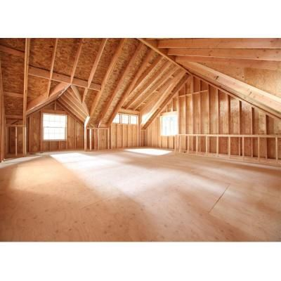 Barn Pros 2 Car 30 Ft X 28 Ft Engineered Garage With Loft Installation Not Included Thd Bp2ca Building A Garage Garage With Living Quarters Garage Packages