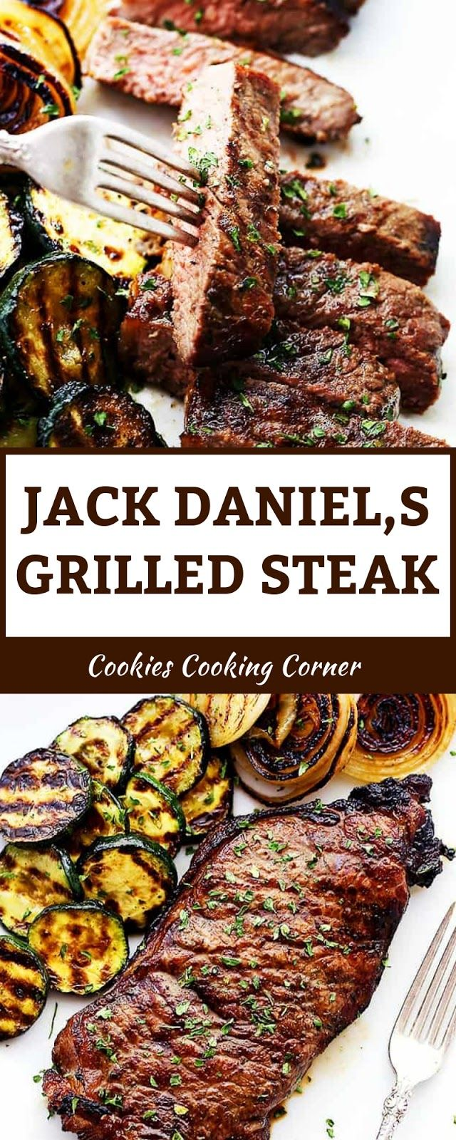 JACK DANIEL,S GRILLED STEAK #grilledsteakmarinades