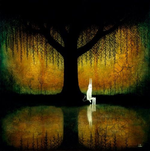 """New Andy Kehoe prints, """"All Turns To Brilliance,"""" and """"On The Banks of the Broken World."""" Really liking these…"""