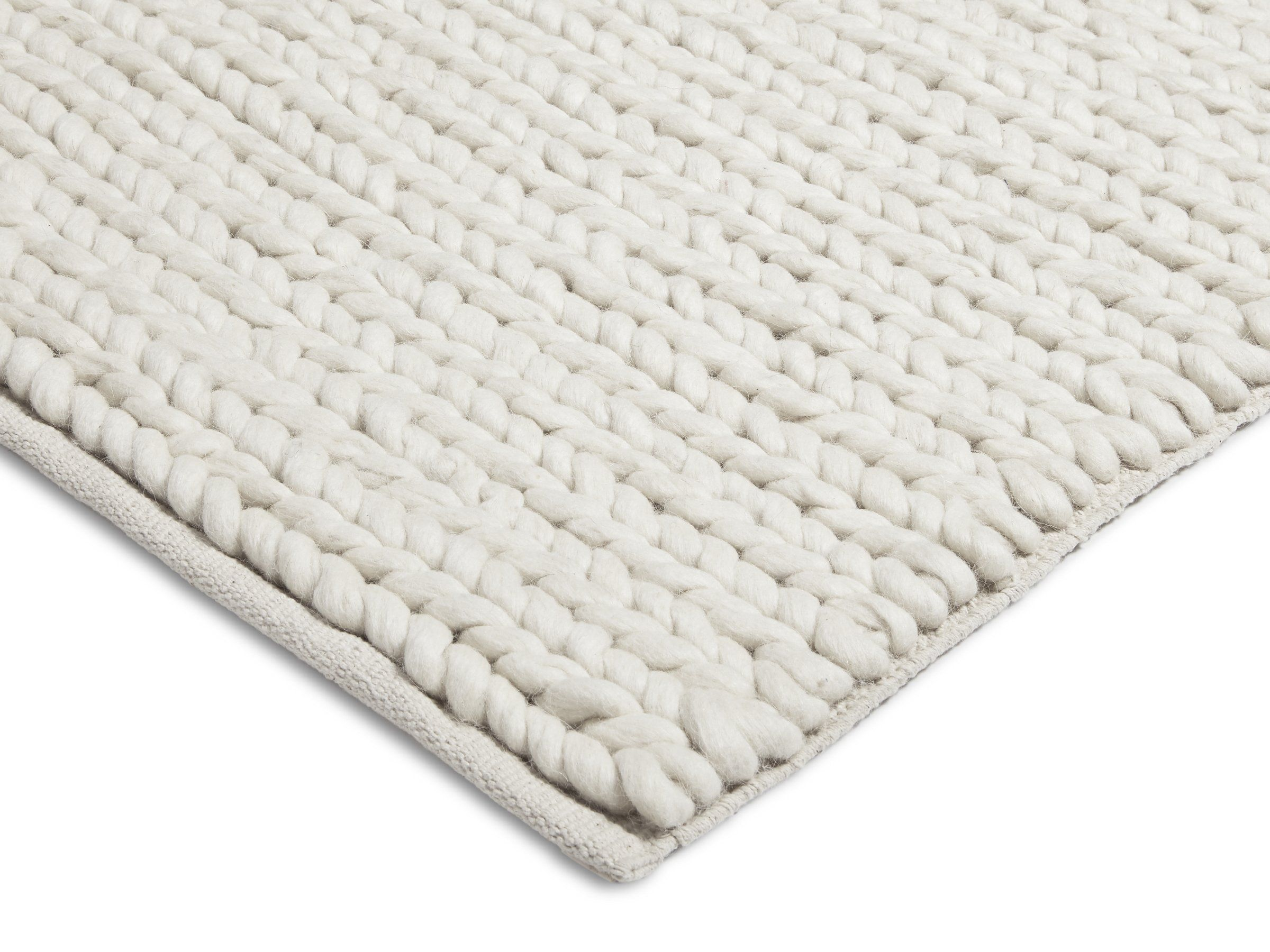 Parachute Home Braided Wool Rug 8x10 Ivory Products In