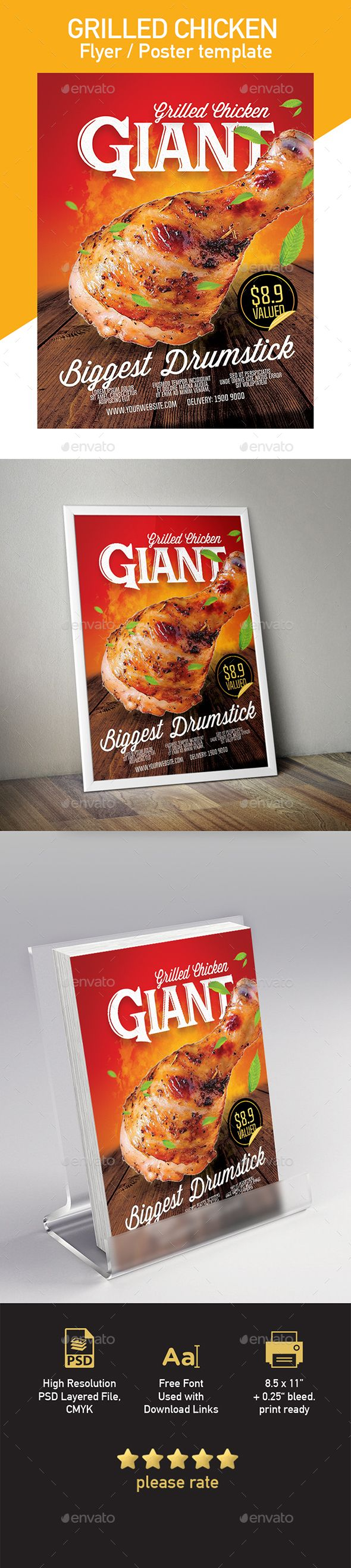 grilled chicken template for flyer poster grilled chicken