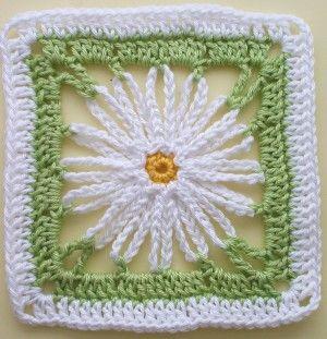 Häkelanleitung Granny Square Marguerite By Lila Knitulators