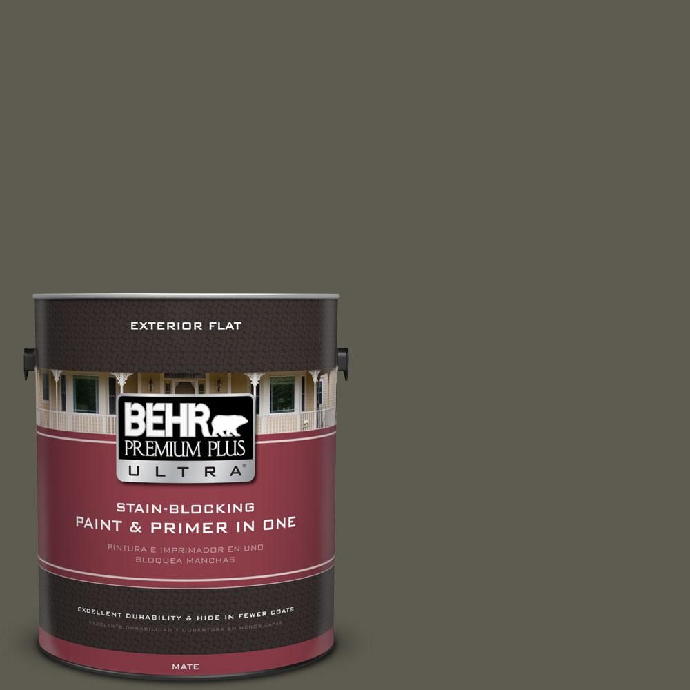 BEHR Premium Plus Ultra 1-gal. #N370-7 Night Mission Flat Exterior Paint