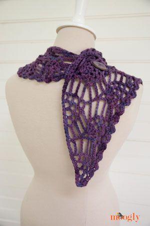 Berry Cosecha Bandana Cowl - patrón #crochet gratuita sobre Moogly ...