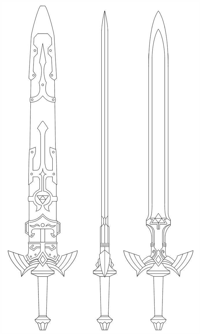 Master Sword Blueprint Twilight Princess By Fridator Epee