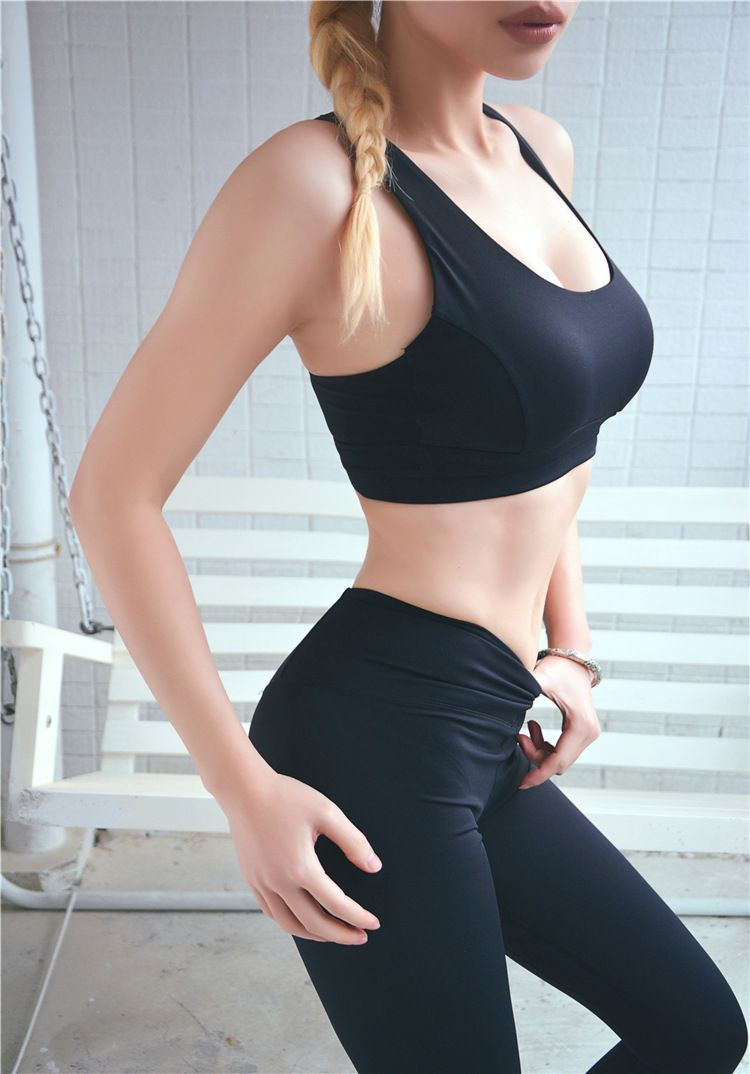 Women Seamless High Impact Sports Bra Fits Fashion Yoga Crop Top Stretch Vest UK