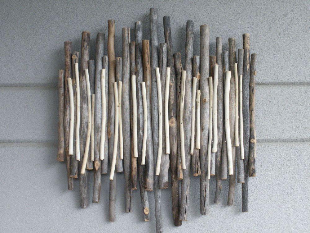 Exterior Wall Art With Aspen Wood Sticks Exterior Wall Art Aspen Wood Driftwood Projects