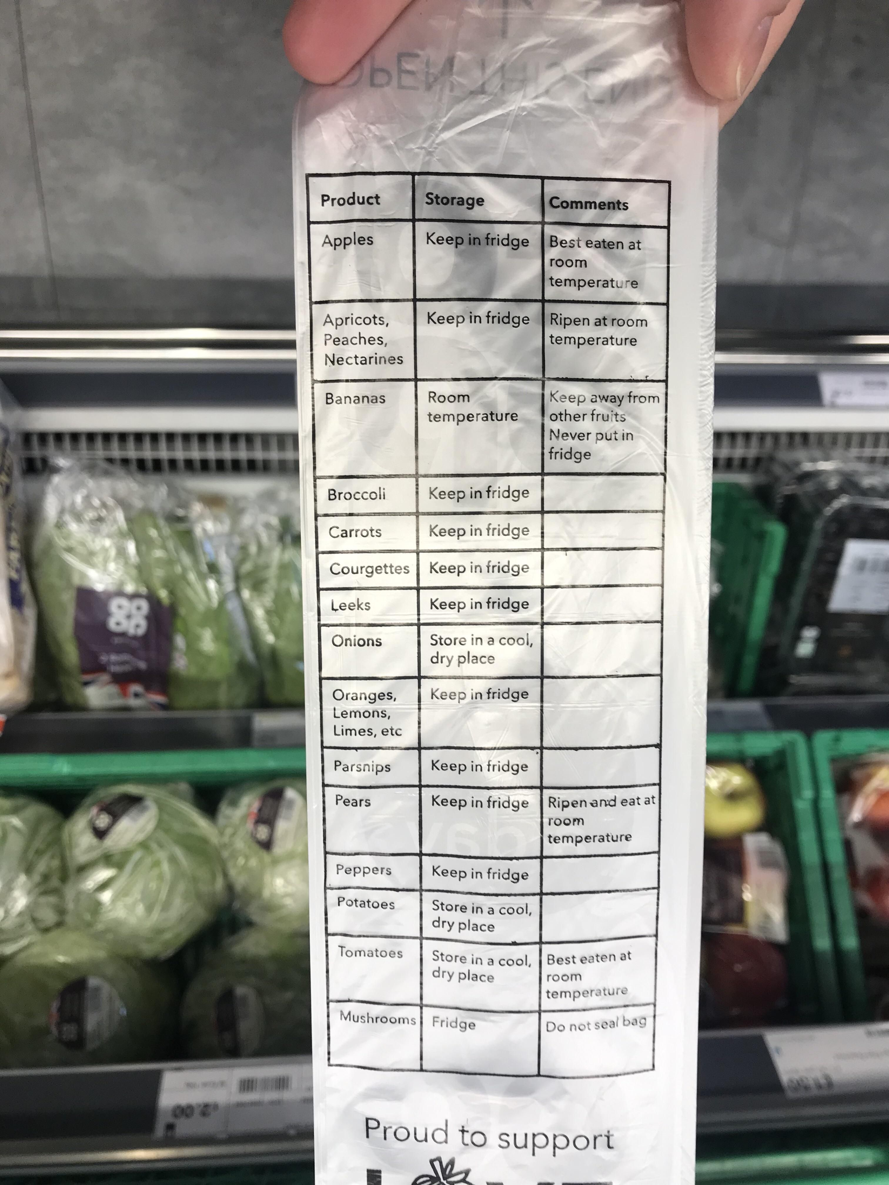 I love how this supermarket prints out instructions on how